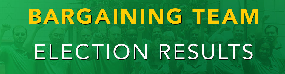 AFSCME Local 3299 Bargaining Team Election Results